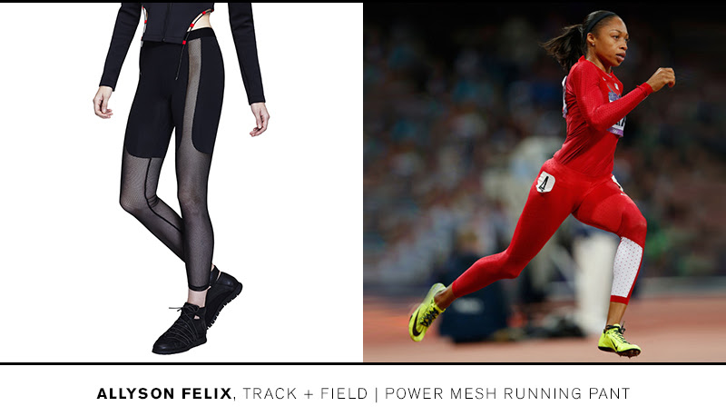 Train like Allyson in the Power Mesh Running Pant >