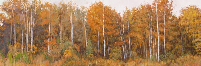 Birches In Autumn (647x214, 213Kb)
