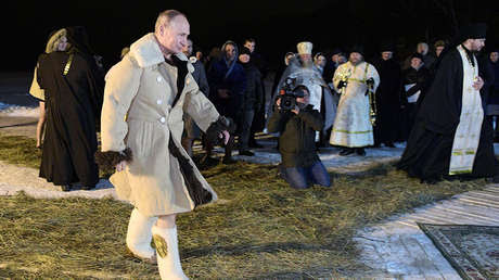 Vladímir Putin, 19 de enero de 2018.