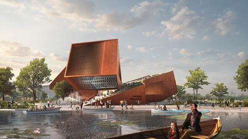 UNStudio's proposal for the Centre Culturel Dedie Au 7e Art