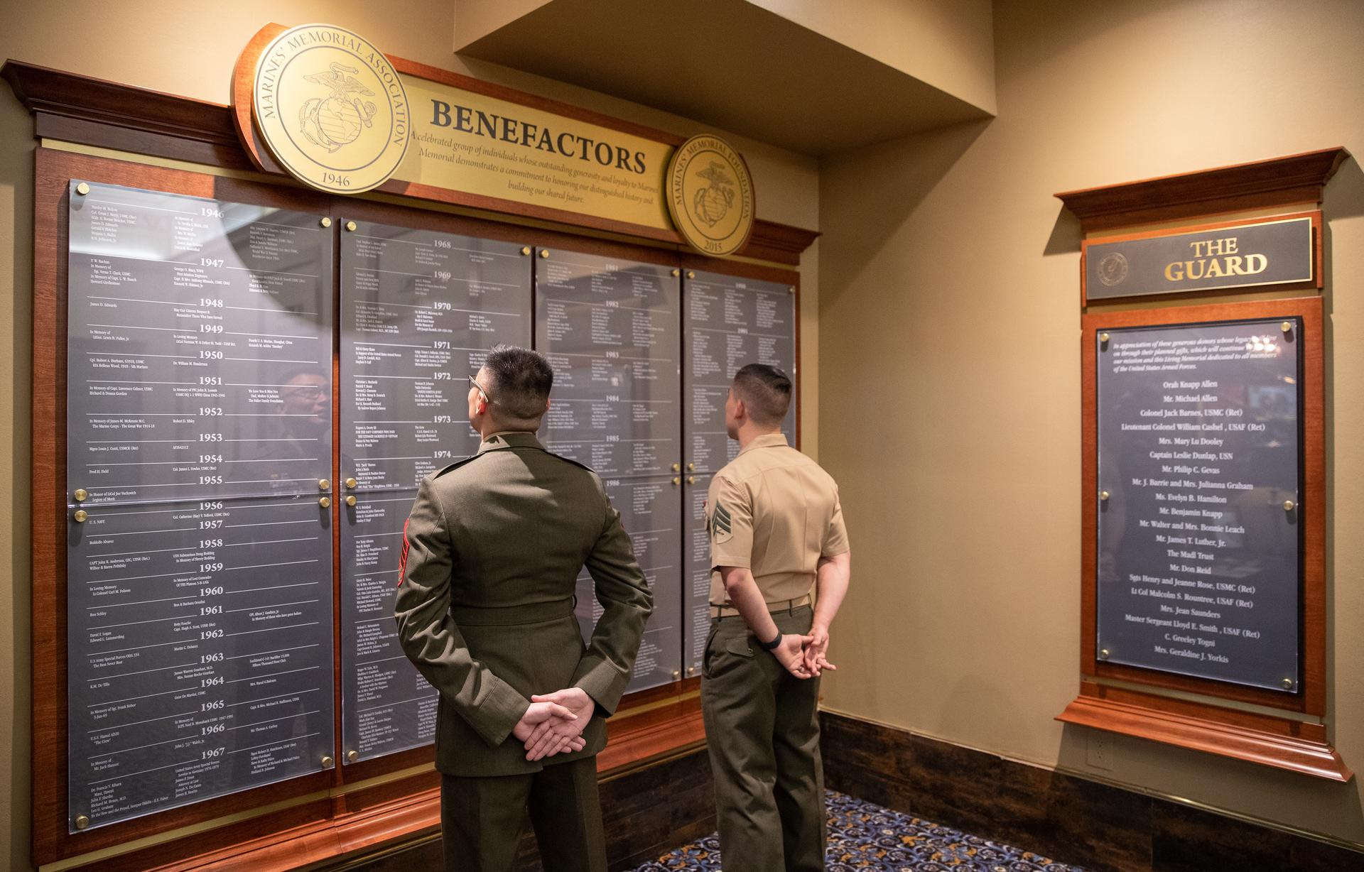 Marines and Benefactor Wall
