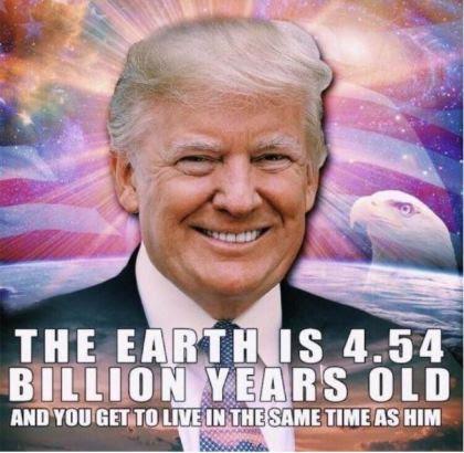 trump earth age