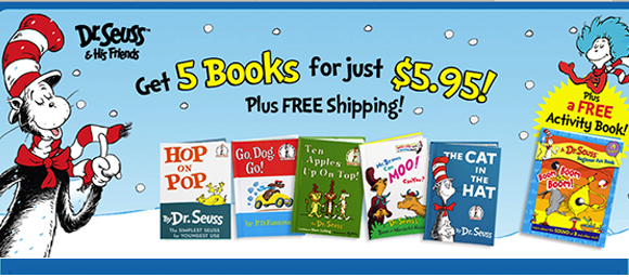 Five Dr. Seuss Books + Bonus G...