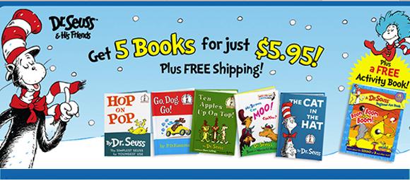 Five Dr. Seuss Books + Bonus G...