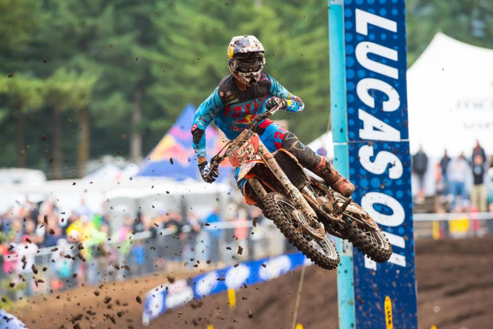 Dungey emerged triumphant at Washougal for the seventh time in his career.Photo: Simon Cudby