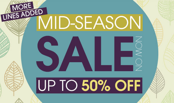 Mid season sale up to 50% off on selected styles at Marisota.co.uk