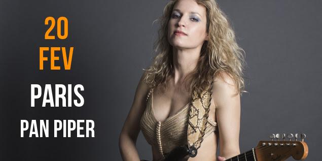 Ana Popovic, blues, en concert exceptionnel le mardi 20 février 2018 au Pan Piper Paris