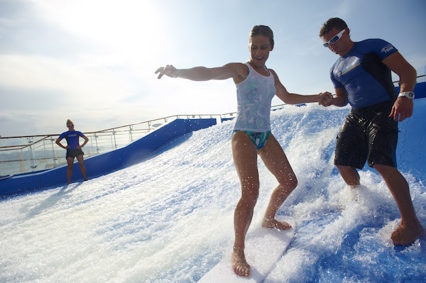 surf lesson on board of the Royal Caribbean's Oasis of the Seas