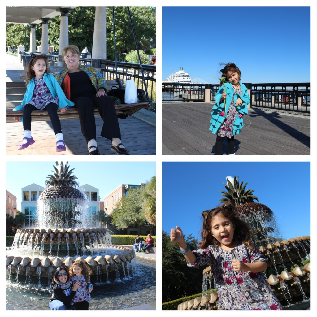 Family Friendly Charleston, South Carolina, Waterfront Park, Pineapple Fountain, Charleston with kids, family travel, multigenerational travel