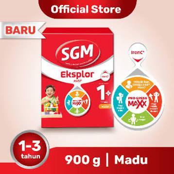 SGM Eksplor Aktif 1+ Pro-GressMaxx Madu Susu Formula [900 g]