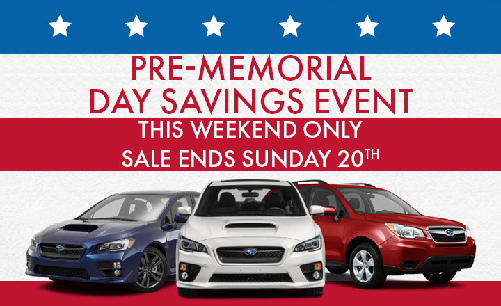 PRE-MEMORIAL DAY SAVINGS EVENT - THIS WEEKEND ONLY SALE ENDS Sunday 20TH