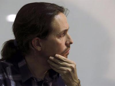 Pablo Iglesias, durante una reciente comparecencia de prensa.  EFE/Kiko Huesca