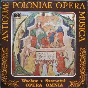 Opera Omnia (Vinyl, LP, Album) album cover