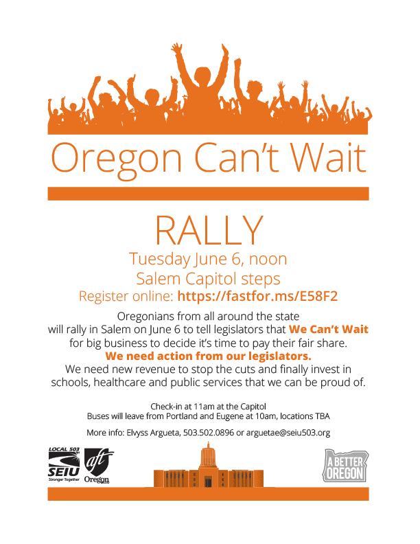 Oregon Can't Wait Rally