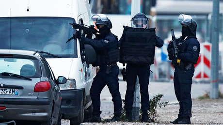 La operación policial en el distrito de Meinau en Estrasburgo (Francia), el 13 de diciembre de 2018.
