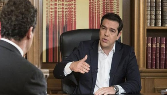 Alexis Tsipras durante la entrevista.