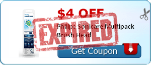 $4.00 off Philips Sonicare Multipack Brush Head