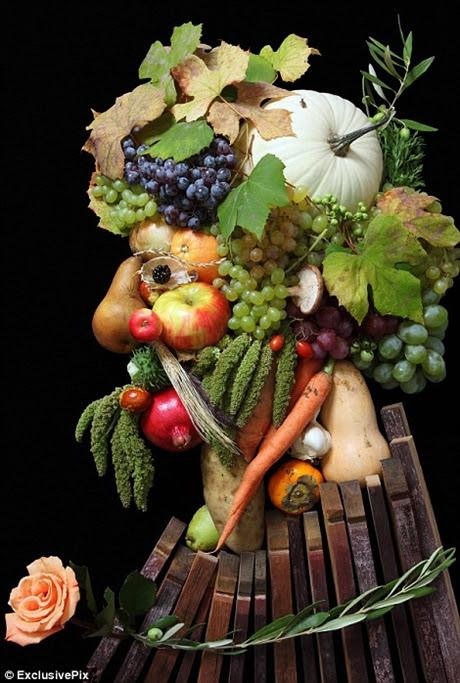 Những tác phẩm được tạo nên bằng hoa quả