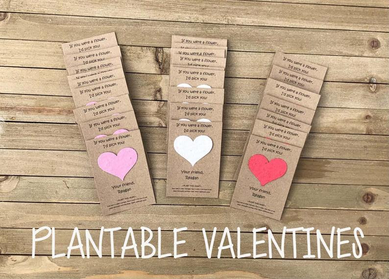 Plantable Valentine's Card, 25 cards for $31 @etsy.com