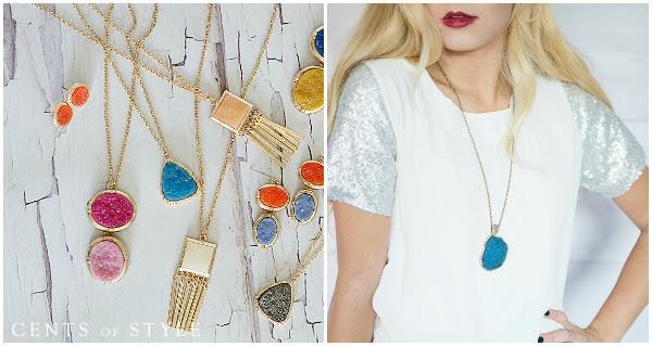 IMAGE: Fashion Friday- Druzy Jewelry- $6.95 & FREE SHIPPING, +$4.99 Scarf Upsell w/ Code DRUZY2