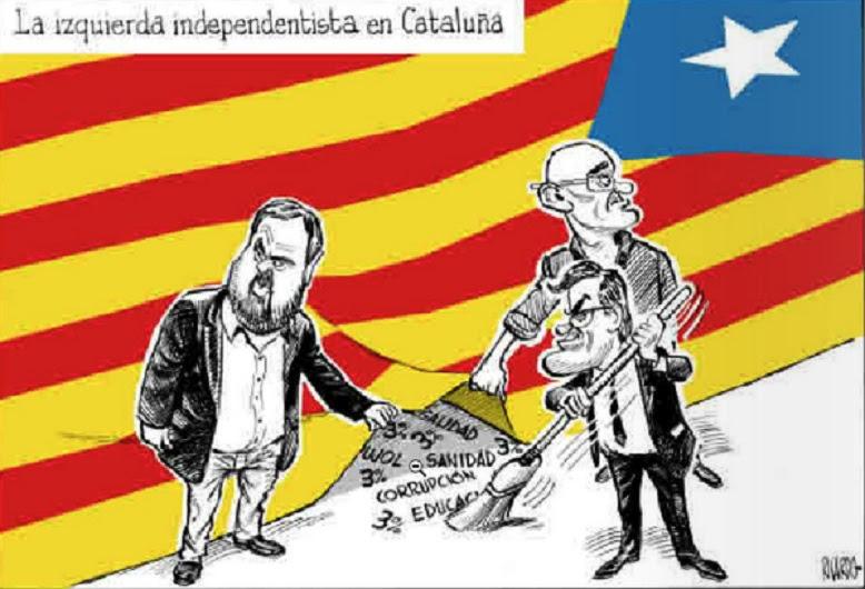 Resultado de imagen de viñeta proceso independentista catalan
