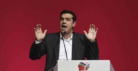 Alexis Tsipras durante un mitin en Atenas. /REUTERS