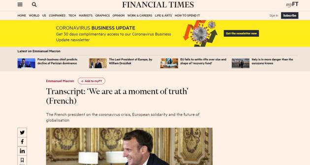 """Macron et""""l'arrivée de la Bête """" (sa petite phrase du 22 mai 2020)  371717b_g-C0V-dxqC0nls82HTWHsPav"""