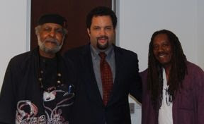Jacquie Taliaferro with Eugene White (l) Ben Jealous (c)
