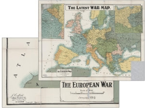 europe map 1915 with creff title