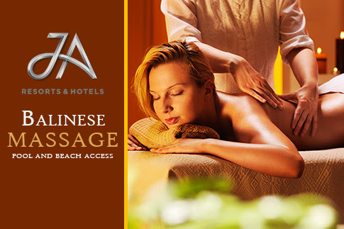 Experience luxury and relaxation with a 60 minute Balinese massage at the JA Jebel Ali Golf Resort including pool and beach access starting from AED 199 - Options for one or two people available