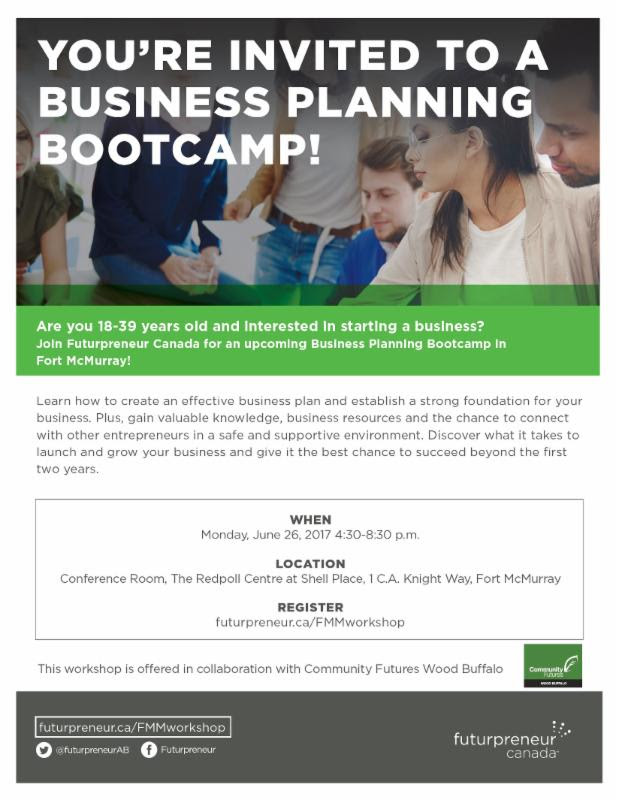 Business Planning Bootcamp @ The Redpoll Centre | Fort McMurray | Alberta | Canada