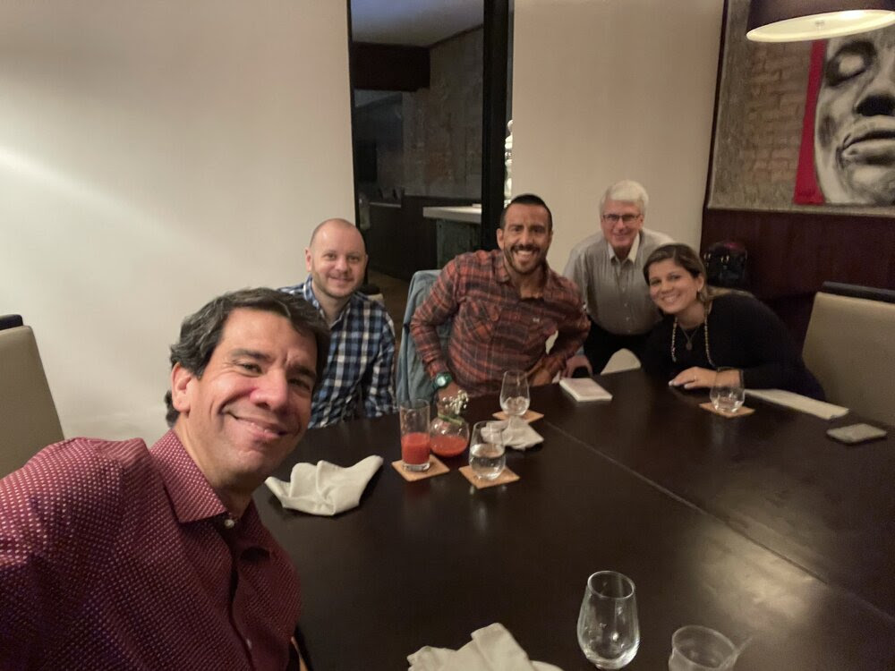 Joselo, Ed, Bob, Rodrigo and his wife, at dinner after conference.jpeg