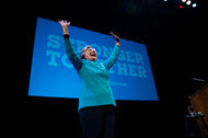 Hillary Clinton attended a fund-raising event in Seattle last week.