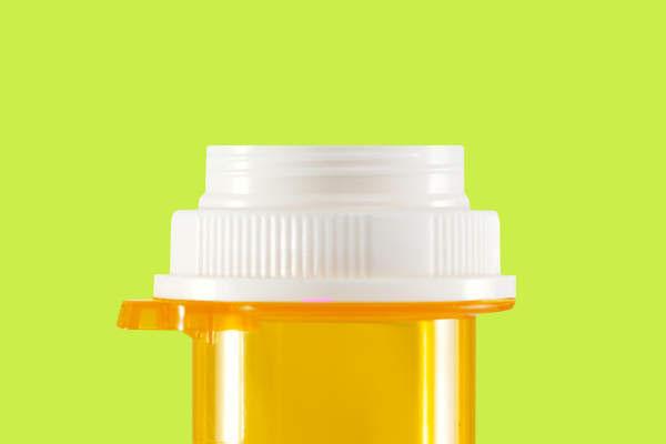 tapa del frasco de pastillas