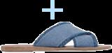 Ancient Greek Sandals Thais - Light Denim