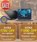 1500 or 750 extra off on Laptops