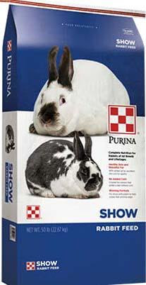Photo 1: Label, Purina Show Rabbit Feed