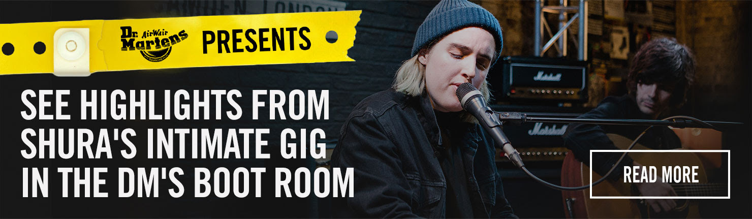 See highlights from Shura's intimate gig in the DM's Boot Room. Read More.