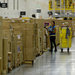 An Amazon warehouse in San Bernardino, Calif. The U.S. growth rate was revised higher as businesses accumulated stock.