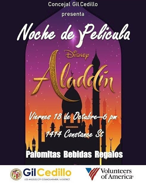 Aladdin Movie Night 10-18-19 SPANISH