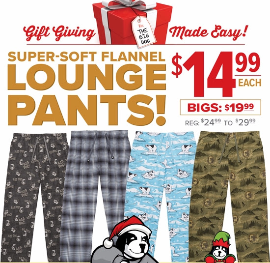 $14.99 Flannel Lounge Pants -.
