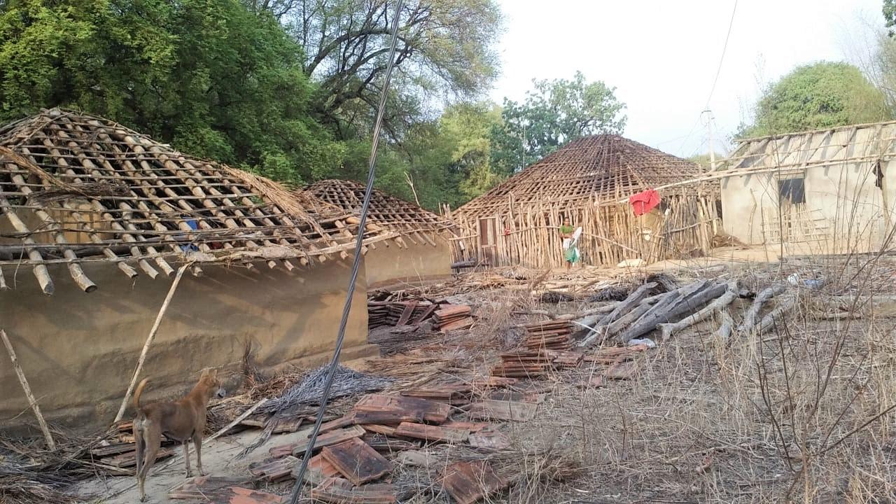 Homes destroyed in Bodiguda, Chhattisgarh state, India, on May 23, 2019. (Morning Star News)