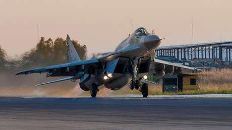 Avión militar en Siria, el 13 de septiembre de 2017.