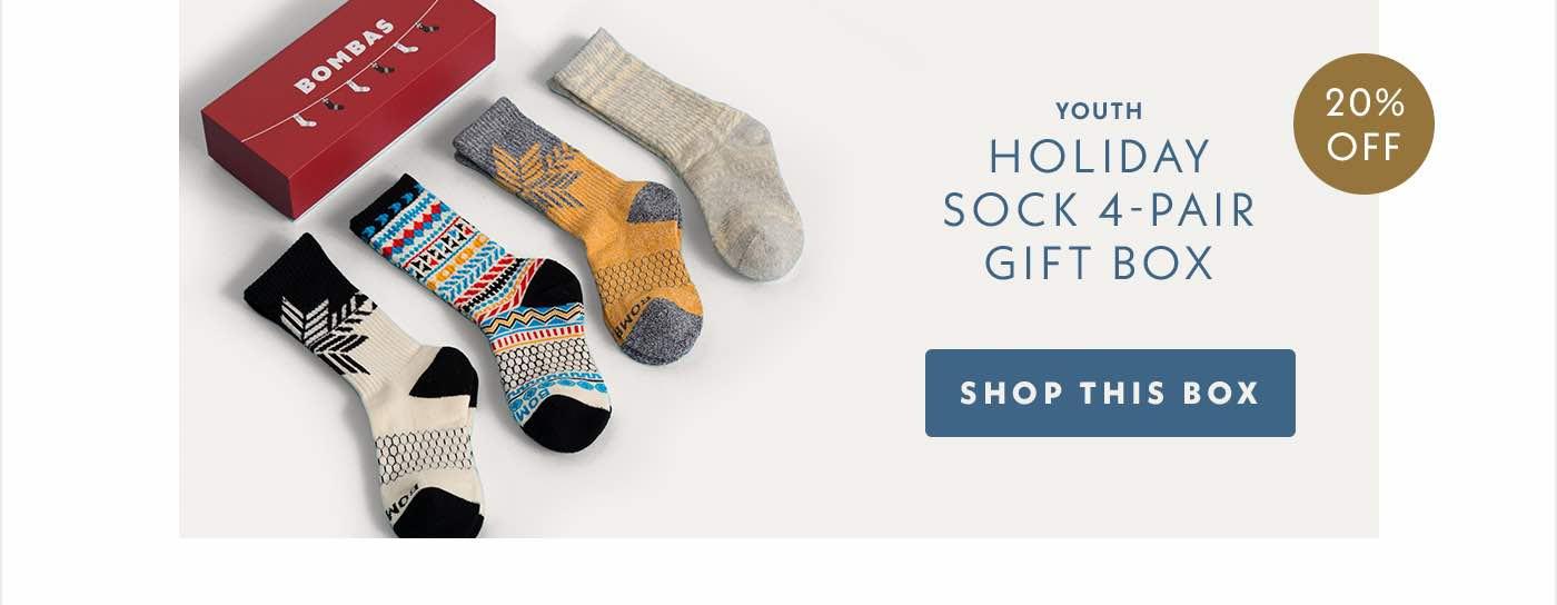 Youth Holiday Sock 4-Pair Gift Box