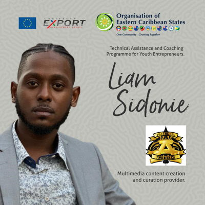 Liam Sidonie, beneficiary of the OECS-Caribbean Export Development Agency's Technical Assistance and Coaching Programme