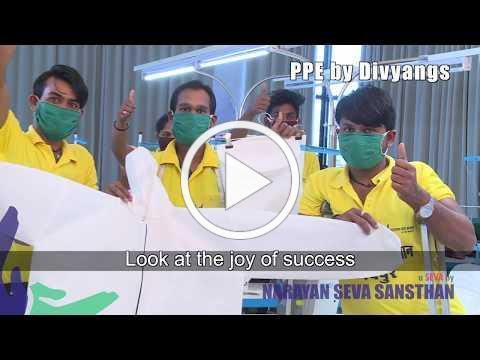 COVID-19 Medical Care: Personal Protective Equipment made by Divyangs
