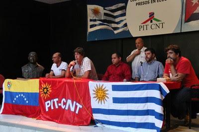 Organizaciones populares uruguayas, encabezadas por la central sindical PIT-CNT, entregarán una carta de apoyo a los legisladores venezolanos que asistirán al Parlasur