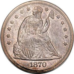 1870-S $1 XF40 PCGS. OC-1, Low R.7