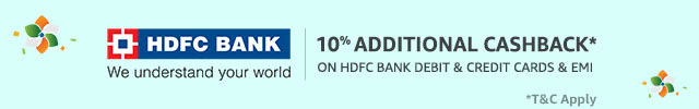 Get 10%* cashback with HDFC cards & EMI