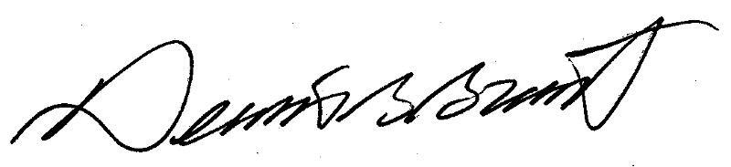 Dennis Grant's signature